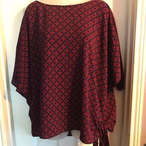 Micheal Kors Black and red blouse Sz 3X